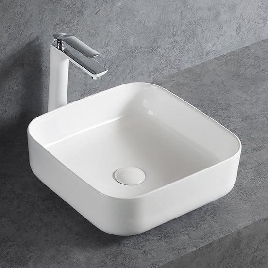 Aufsatzwaschbecken aus Keramik KW6134 für Gäste-WC - 38,5 x 38,5 x 13,5 cm - Farbe wählbar