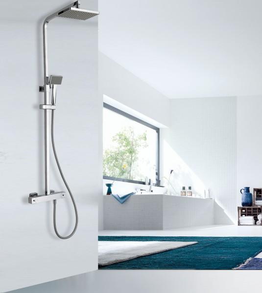 Design-Duschsäule Thermostat 3011 Basic inkl. Handbrause - Auswahl Duschkopf eckig & rund