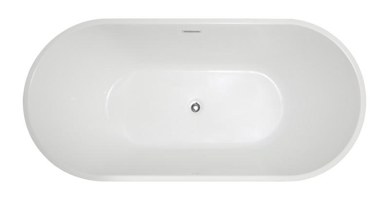 Freistehende Badewanne MIO aus Acryl weiß - Größe und Standarmatur wählbar zoom thumbnail 3
