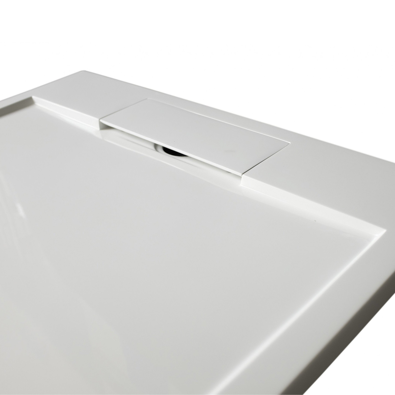 Mineralguss Duschtasse Duschwanne PB3086G - Weiß glänzend - 100x100x3,5cm