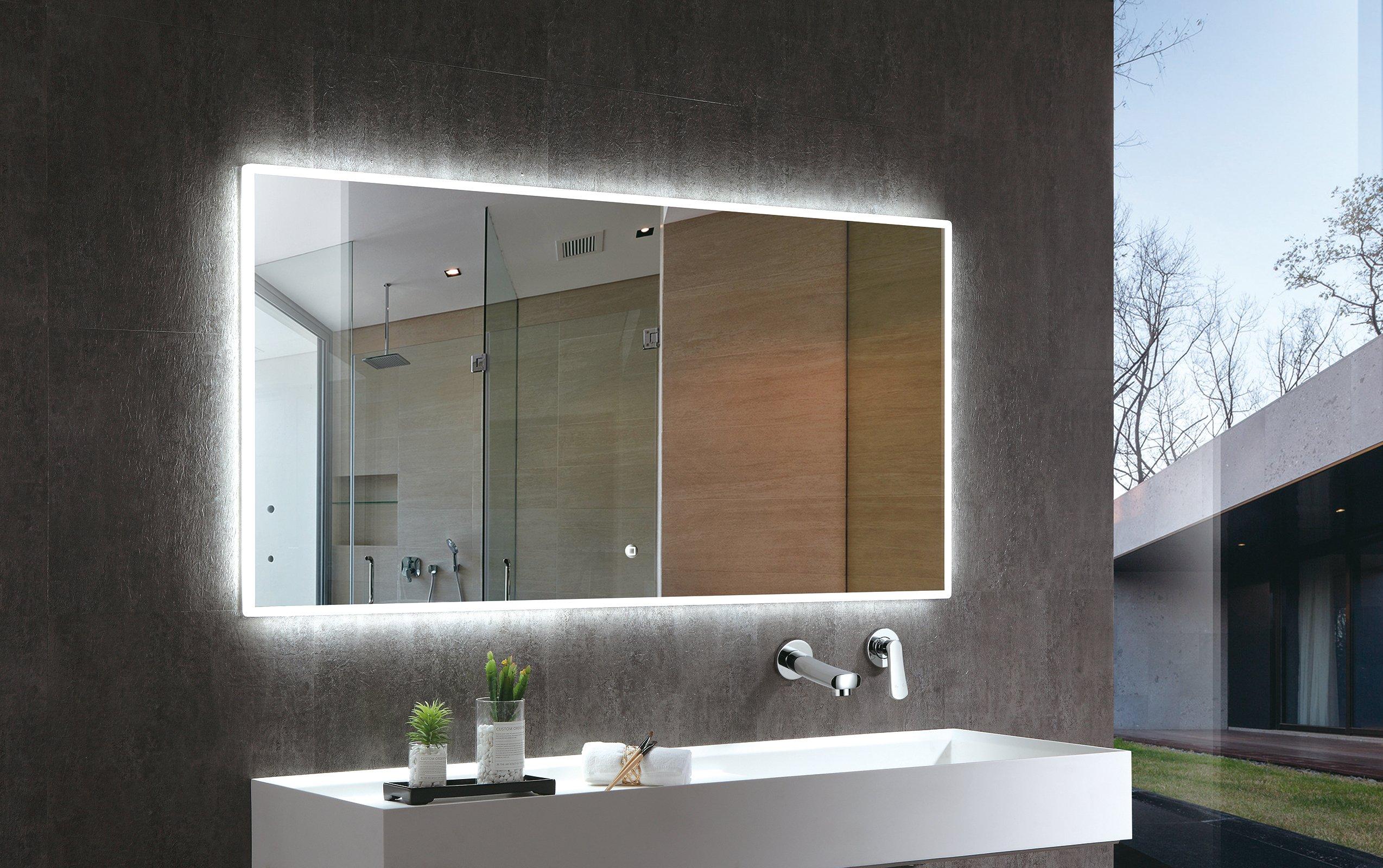 LED Lichtspiegel Badspiegel 2073 - Breite wählbar