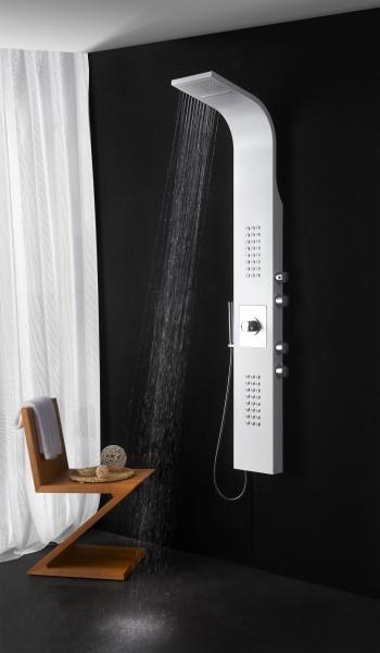 Duschpaneel Edelstahl weiß Duschsystem mit SEDAL-Thermostat Duschsäule 8815