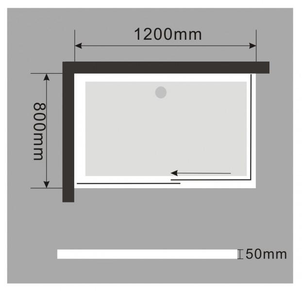 Duschtasse Duschwanne rechteckig - 120 x 80 cm inkl. Ablaufgarnitur zoom thumbnail 5