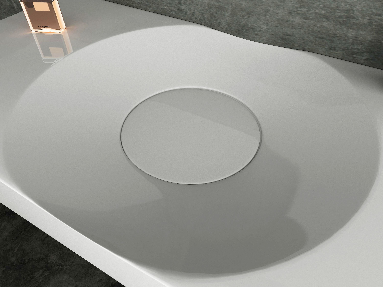 Wandwaschbecken Aufsatzwaschbecken BS6059 in Weiß - 100 x 48 x 10 cm  zoom thumbnail 5