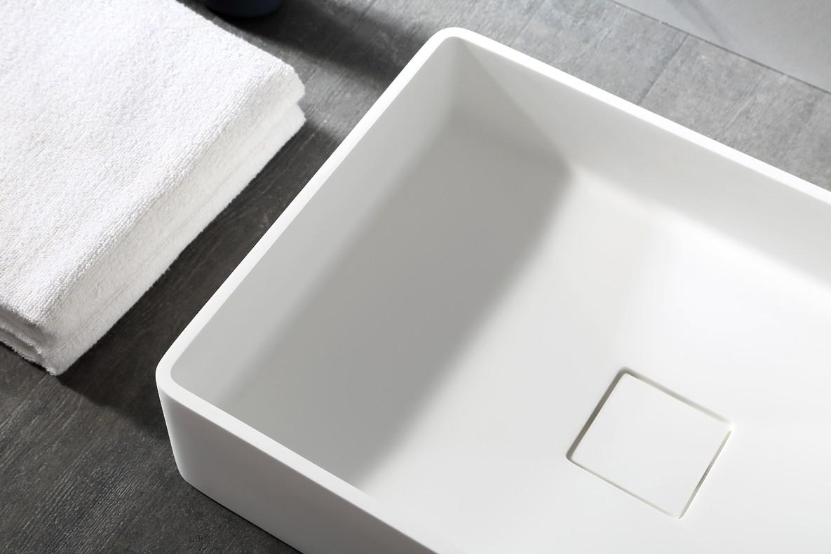 Aufsatzwaschbecken Aqua aus Mineralguss Pure Acrylic - 48x32x10,5cm - in Matt oder Hochglanz zoom thumbnail 5