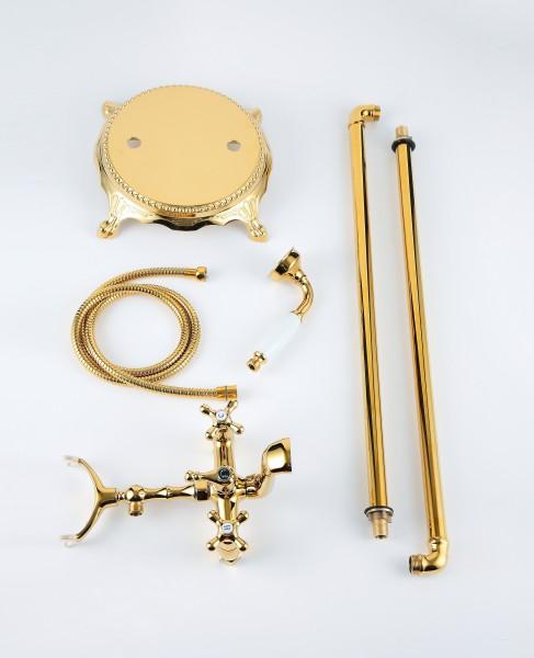 Standarmatur freistehend Wannenarmatur rund Armatur 1414 Gold zoom thumbnail 5