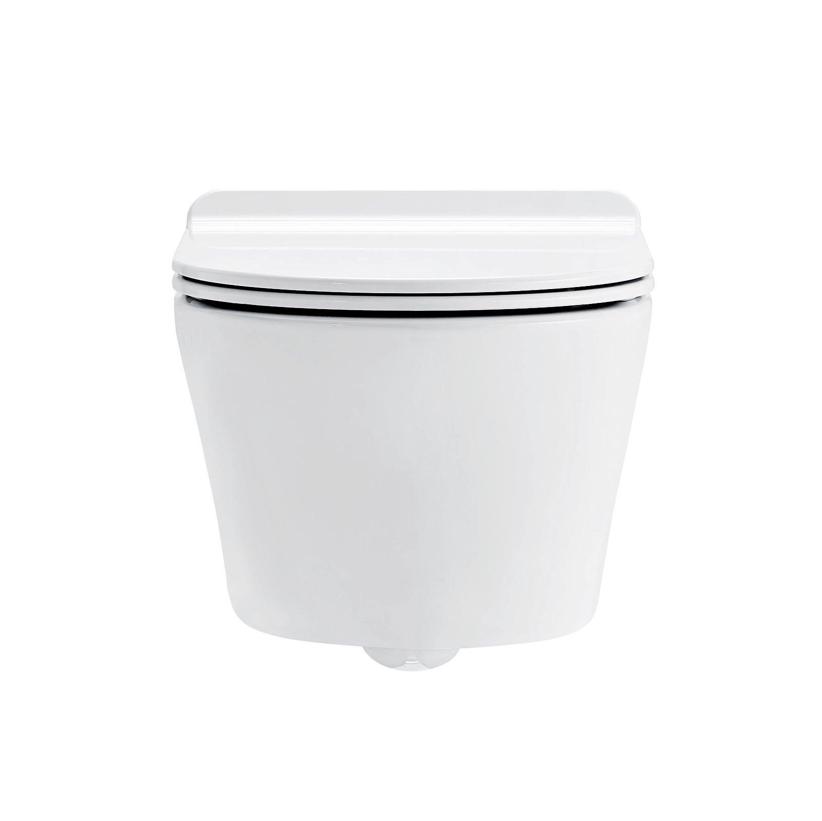 BERNSTEIN Wand-Hänge-WC Toilette CH1088 - inkl. WC-Deckel Softclose flach zoom thumbnail 3