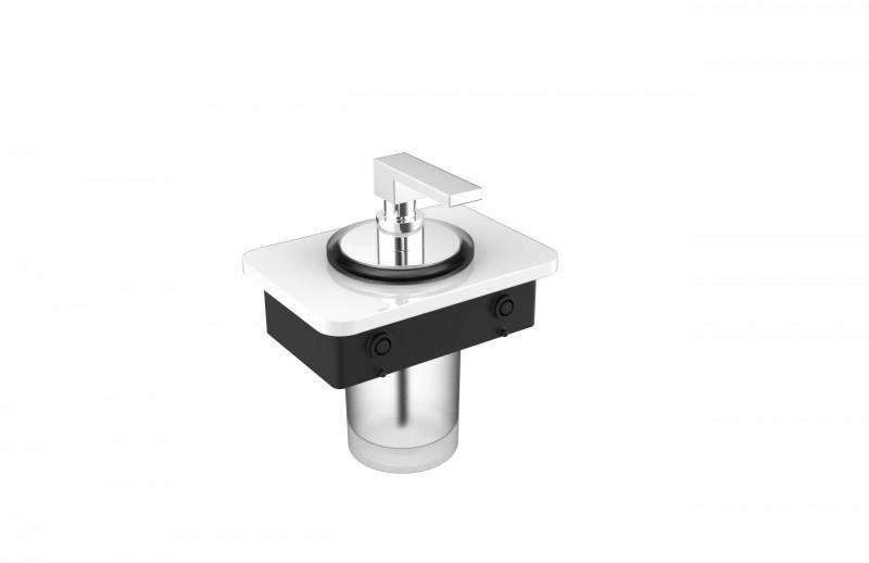 Ablage SDLSSA inkl. Seifenspender - passend zu den Handtuchhaltern SDLHH45 und SDLHH60 - Serie LINEAR - chrom