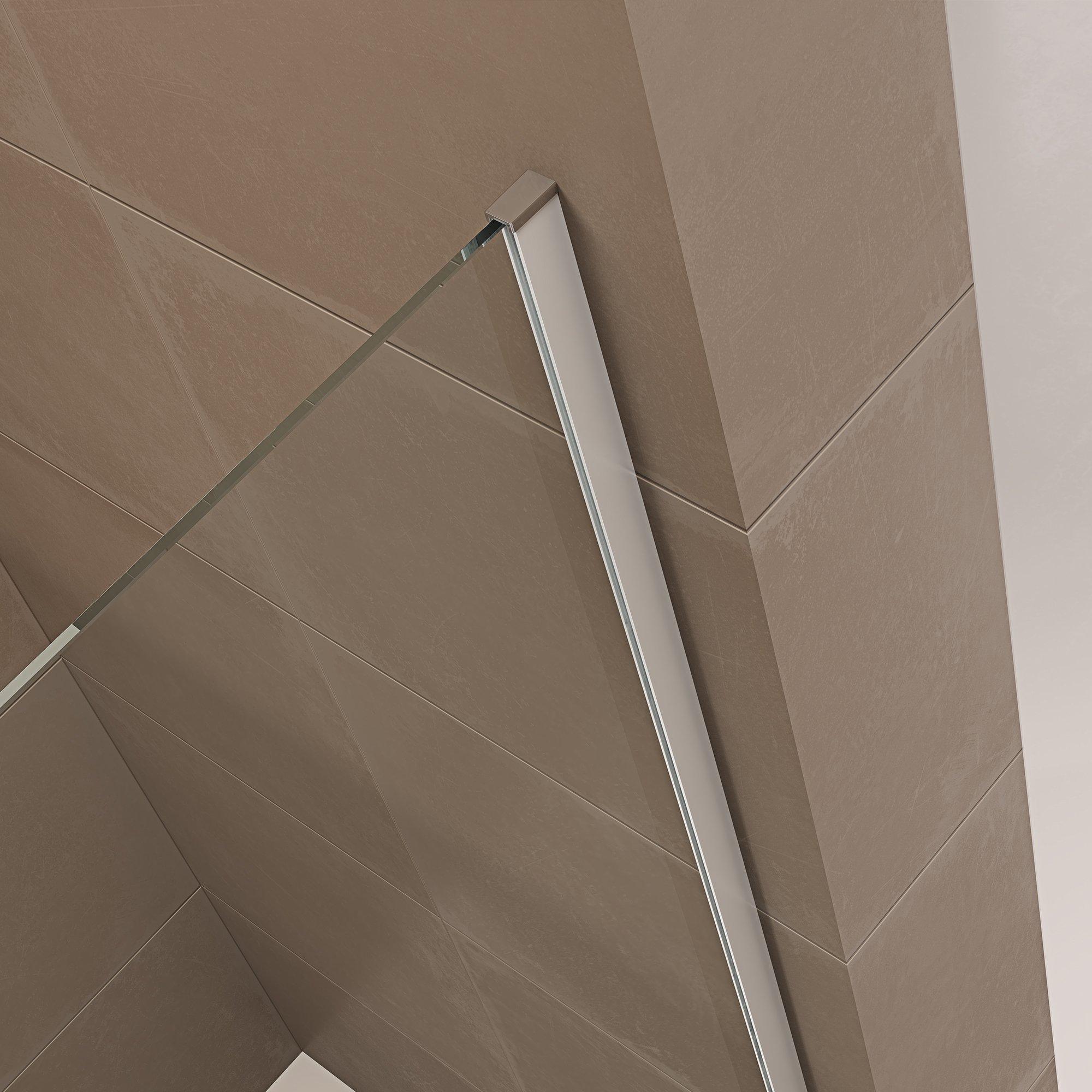 Duschabtrennung Walk-In-Dusche mit Spritzschutz NT109 8mm ESG-Glas  zoom thumbnail 6