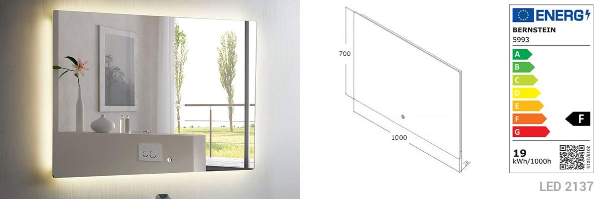 Badmöbel Vision 1000 Weiß matt - Spiegel und Aufsatzwaschbecken optional zoom thumbnail 6