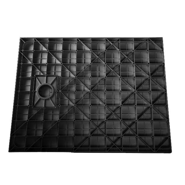Duschtasse Duschwanne rechteckig GT-Serie in Schwarz aus SMC - Breite: 80 cm -  Zubehör wählbar zoom thumbnail 3