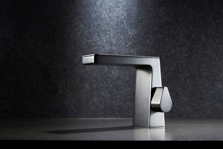 Design Wasserfall Waschtischarmatur NT7320 - Wasserhahn in Schwarz matt, Weiß matt, Gunmetal zoom thumbnail 4