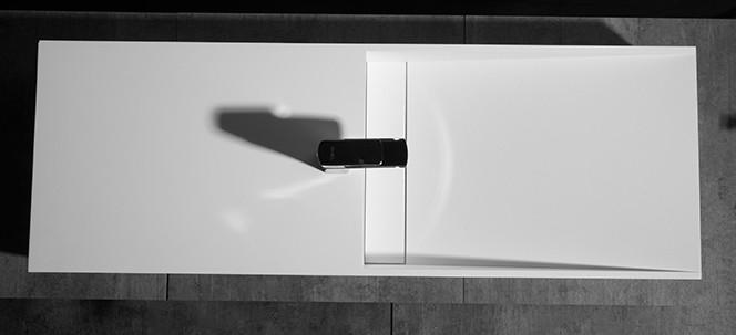 Aufsatzwaschbecken Wandwaschbecken TWG06 aus Mineralguss Solid Stone - 120 x 42 x 20 cm zoom thumbnail 4