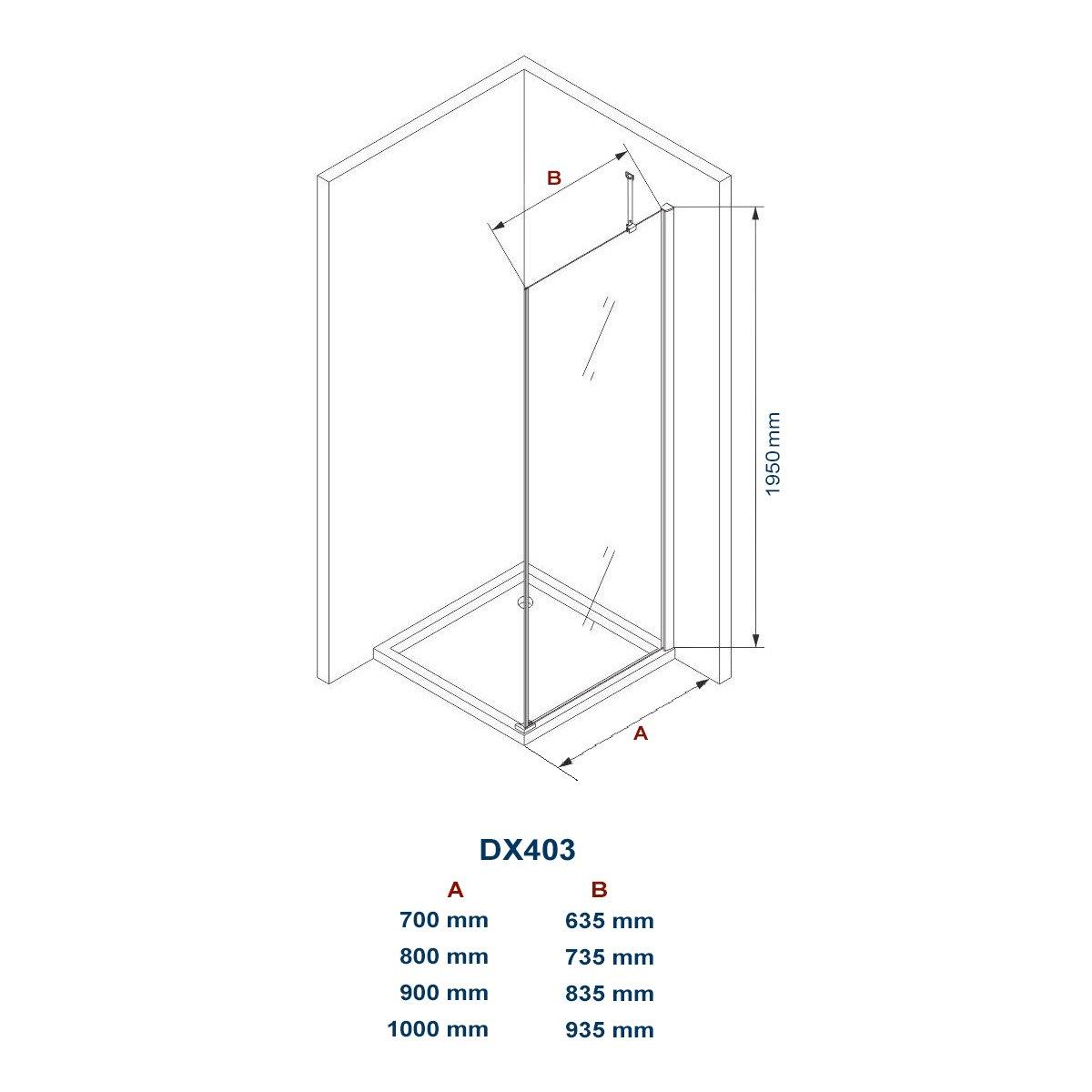 Duschkabine Eckdusche 8 mm Nano Echtglas DX403 - Breite wählbar zoom thumbnail 6
