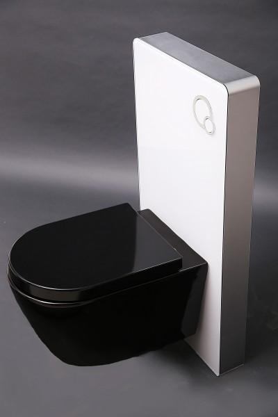 Wand-Hänge-WC B-8030 Schwarz - inkl. Softclose-Deckel