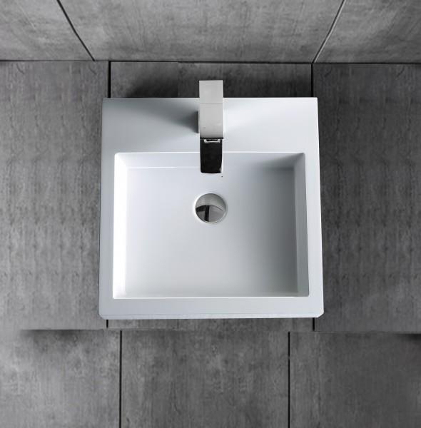 Wandwaschbecken Aufsatzwaschbecken BS6050 45 x 45 x 12,5cm zoom thumbnail 4