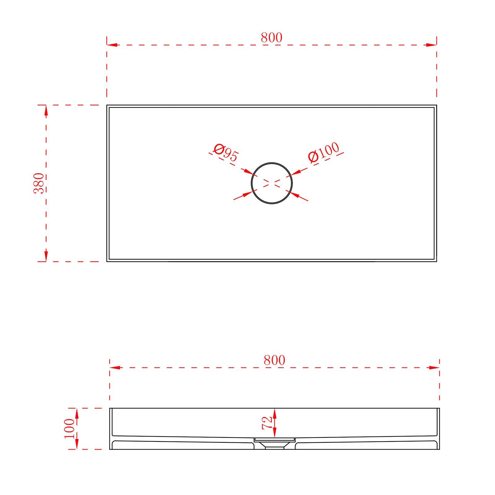 Aufsatzwaschbecken aus Mineralguss TWA112 - Breite & Farbe wählbar zoom thumbnail 5