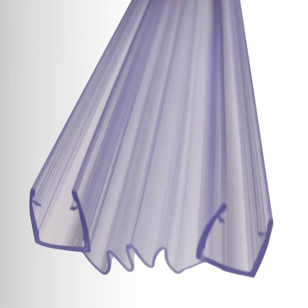 Duschdichtung für Falttüre - Ziehharmonikaprofil - für BERNSTEIN Duschkabinen EX213 -  Glasstärke 8 mm