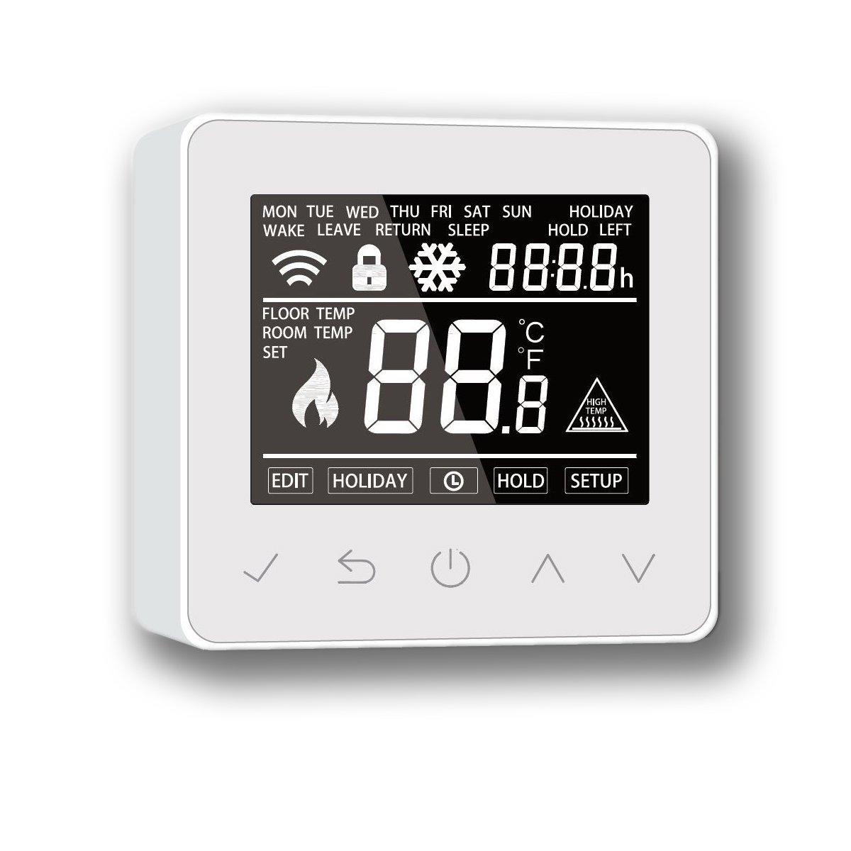 Thermostat ET61W White für elektrische Fußbodenheizung mit TWIN-Technologie - Steuerung über Smartphone zoom thumbnail 5