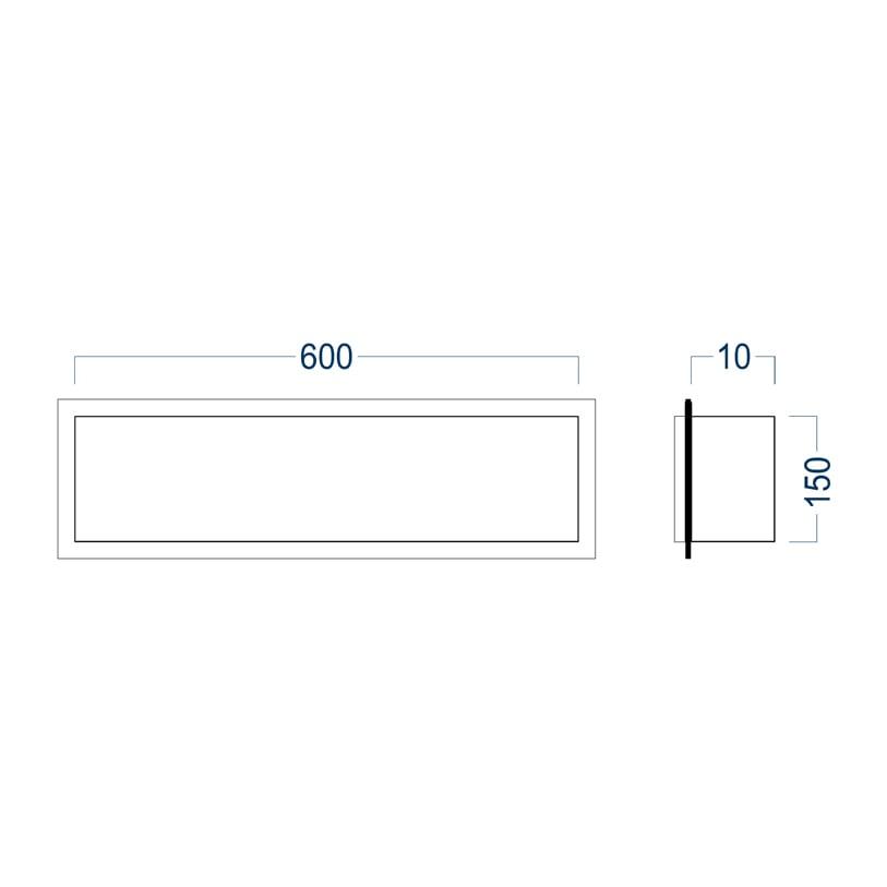 BERNSTEIN Wandnische aus Edelstahl BS156010 randlos - 15 x 60 x 10 cm - Edelstahl gebürstet