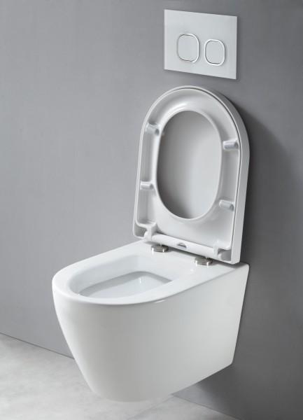 Wand-Hänge-WC B-8030 Weiß - inkl. Softclose-Deckel zoom thumbnail 3