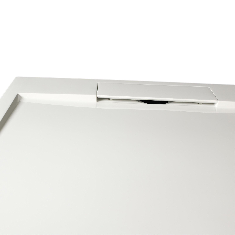 Mineralguss Duschtasse Duschwanne PB3086G - Weiß glänzend - 100x100x3,5cm  zoom thumbnail 3