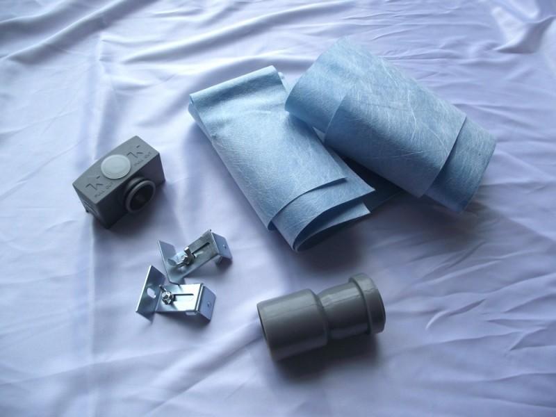Edelstahl-Duschrinne GL02 für Duschkabine - Ablaufblende Glas weiß - Länge wählbar zoom thumbnail 3