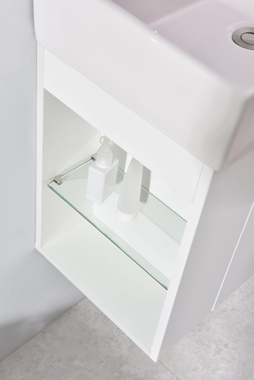 Badmöbel-Set Compact 500 für Gäste-WC - Weiß matt zoom thumbnail 4