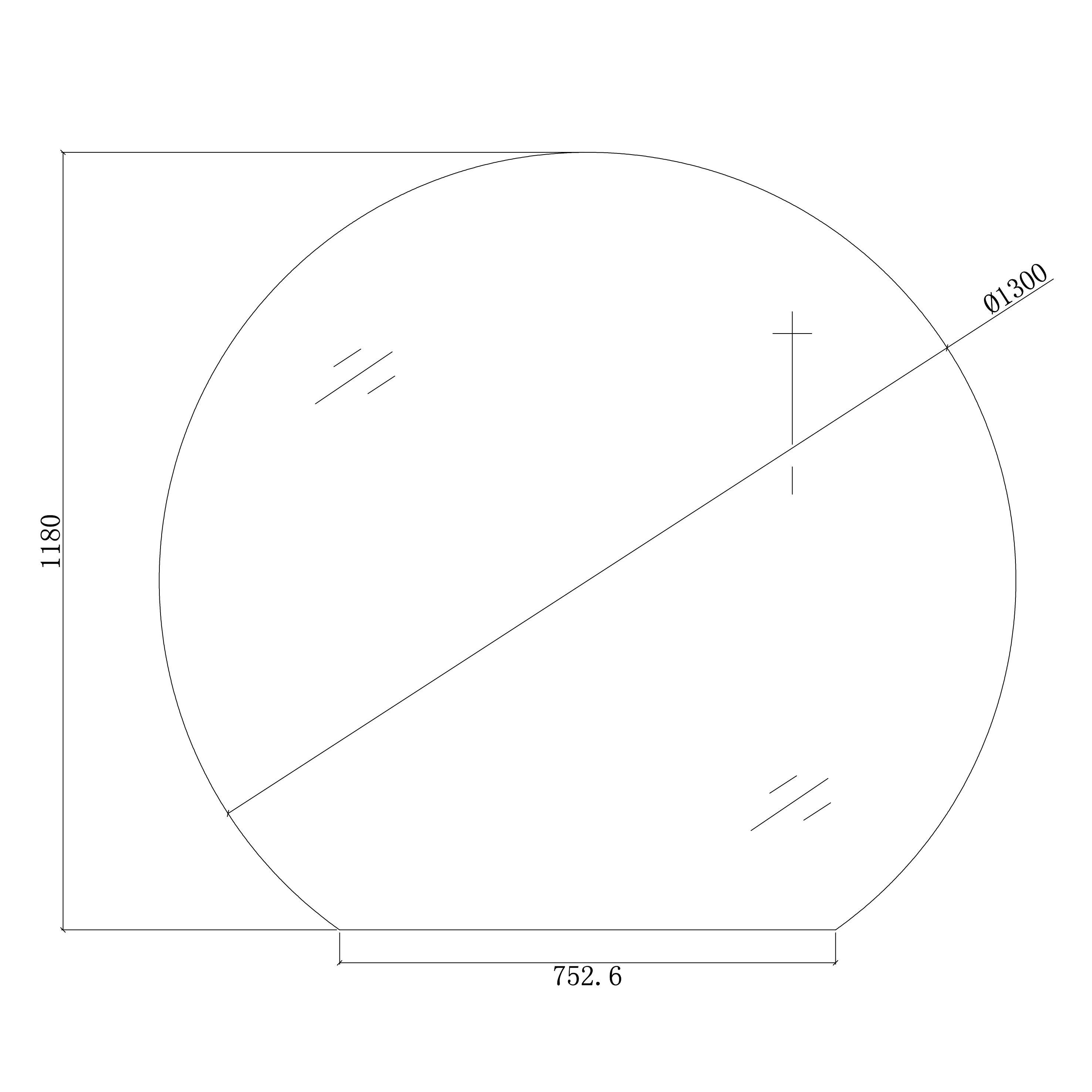 LED Lichtspiegel Badspiegel rund BOVA mit Spiegelheizung - 130 x 118 cm zoom thumbnail 4