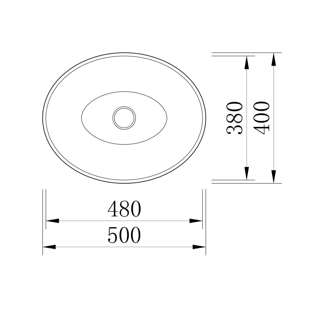 Design Aufsatzwaschbecken LEO aus Mineralguss - 50 x 40 x 12 cm - Farbe wählbar zoom thumbnail 4