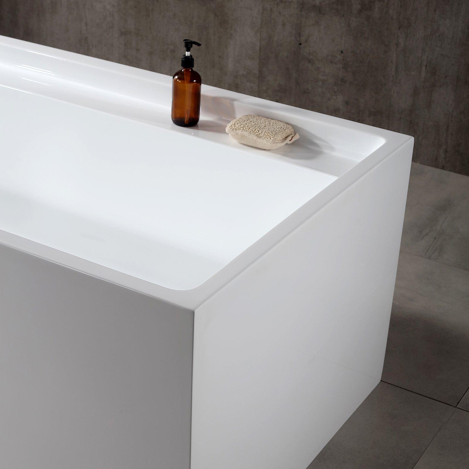 Freistehende Badewanne VERONA Acryl weiß - 170 x 80 x 60 cm - Standarmatur wählbar zoom thumbnail 5