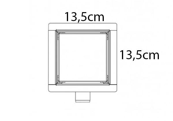 13.5 x 13.5 cm