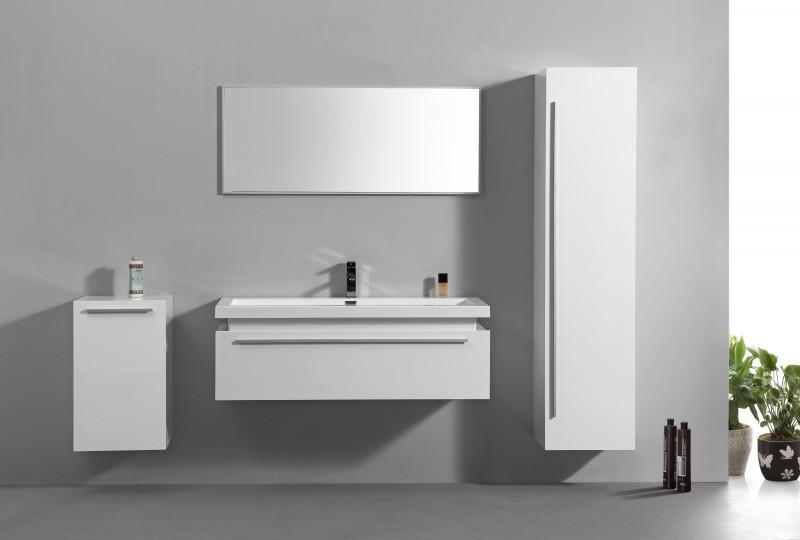 Badmöbel-Set N1200 Weiß - Spiegel und Seitenschränke optional
