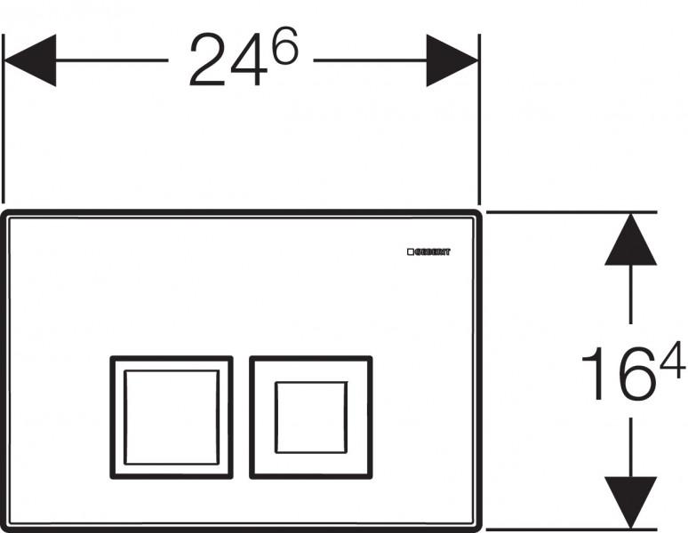 Geberit DUOFIX BASIC 112 cm, SPK UP100 + DELTA 50 Chrom seidenglanz + Schallschutzset zoom thumbnail 4