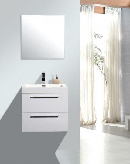 Badmöbel-Set M600 Weiß - Badspiegel optional wählbar