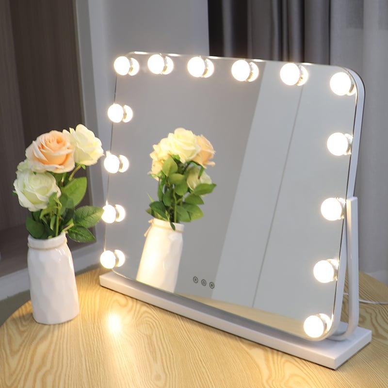 Hollywood Kosmetikspiegel Lichtspiegel R600 inkl. 14 LEDs - Farbe wählbar zoom thumbnail 3