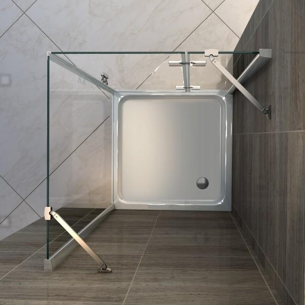 Duschtasse Duschwanne quadratisch - 90 x 90 cm inkl. Ablaufgarnitur
