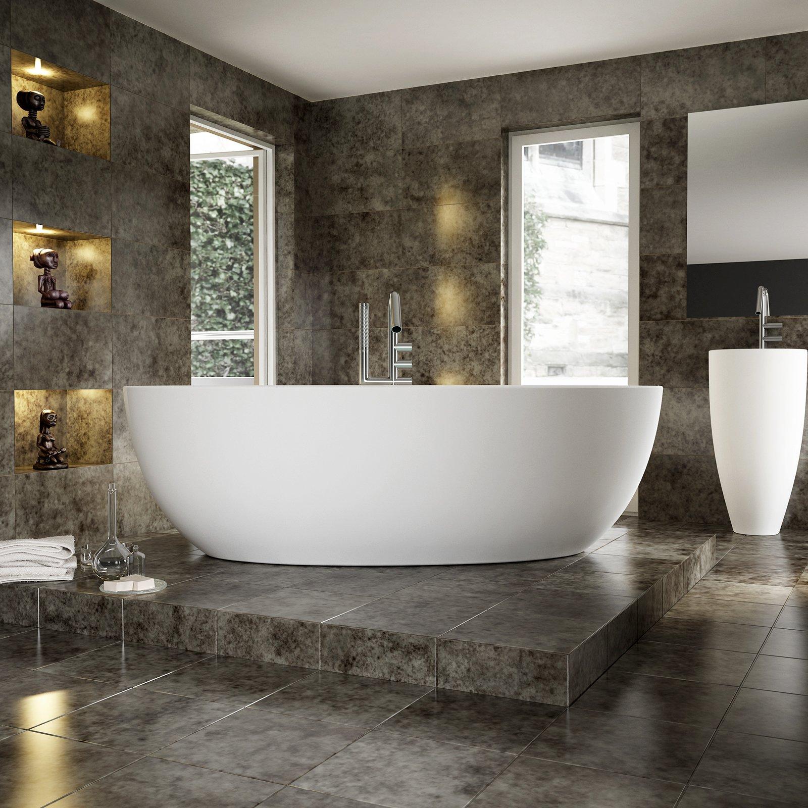 Freistehende Badewanne TERRA Acryl - 186 x 88 cm - Weiß glänzend zoom thumbnail 3