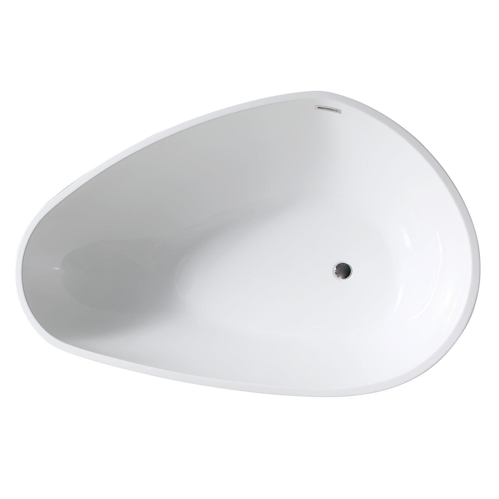Freistehende Badewanne VENETO Acryl Weiß oder Schwarz/Weiß - Glänzend - 180 x 110 x 60 cm - Standarmatur wählbar zoom thumbnail 5
