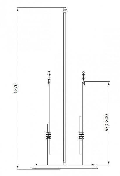 XXL-Regendusche Edelstahl-Deckenbrause DPG5005 superflach - 50 x 50 cm - Deckeneinbau zoom thumbnail 4