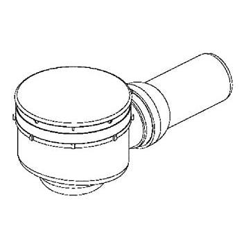 Dallmer Duschwannenablauf ORIO - für Duschtassen mit 90mm Ablaufloch - Kugelgelenk verstellbar von 0 - 15 Grad