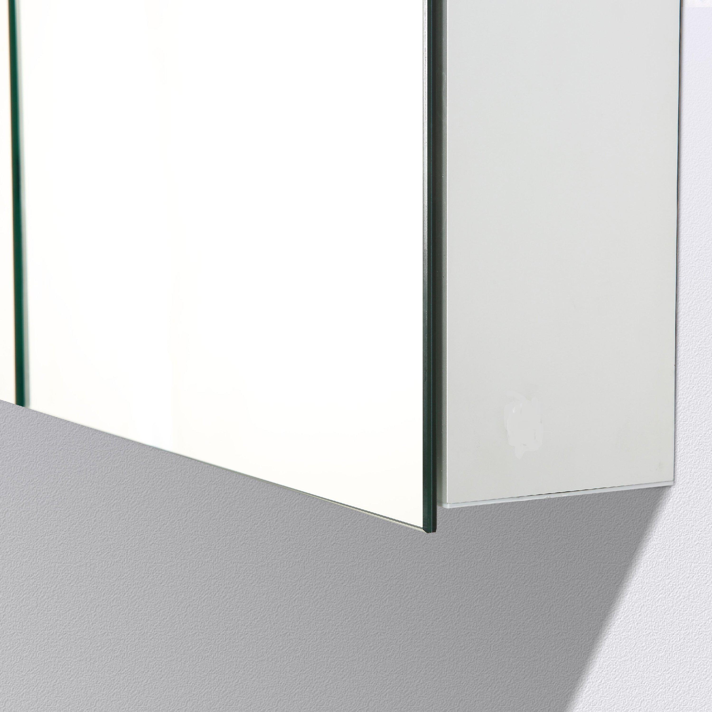 Aluminium-Spiegelschrank G900 2-türig - innen und außen Spiegel - 90 x 70 x 13 cm zoom thumbnail 5