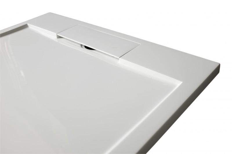 Mineralguss Duschtasse Duschwanne PB3086 - Weiß matt - 100x100x3,5cm  zoom thumbnail 3