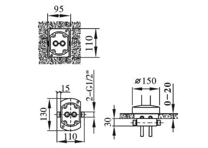 Standarmatur freistehende Wannenarmatur NT3127 inkl. Unterputz-Grundkörper zoom thumbnail 4