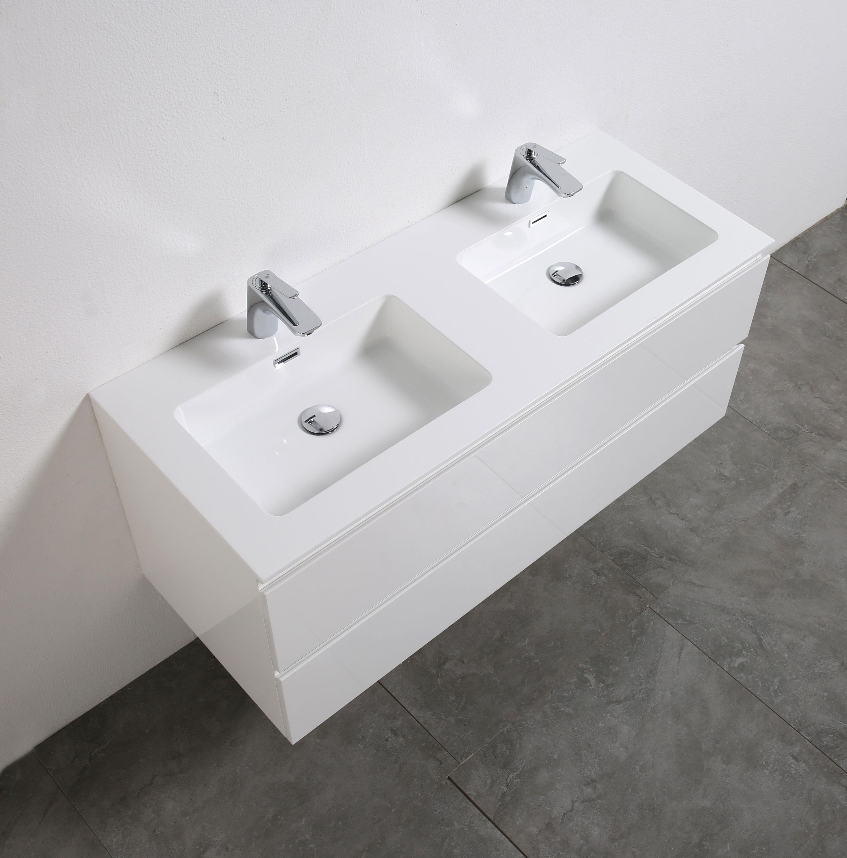 Badmöbel-Set Alice 1200 Weiß hochglanz - Spiegel optional