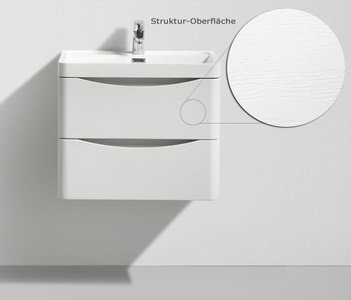 Badmöbelset Smile 600 Lilie Weiß - Spiegel und Hängeschrank optional