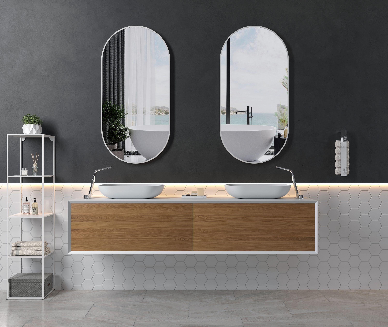 Aufsatzwaschbecken O-540 aus Mineralguss - Weiß hochglanz - 54 x 34 x 10,5 cm zoom thumbnail 5