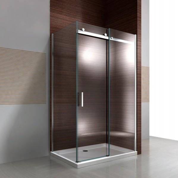 Duschkabine Nano Echtglas EX806 Schiebetür - 90 x 120 x 195 cm