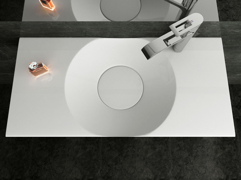 Wandwaschbecken Aufsatzwaschbecken BS6059 in Weiß - 100 x 48 x 10 cm  zoom thumbnail 4