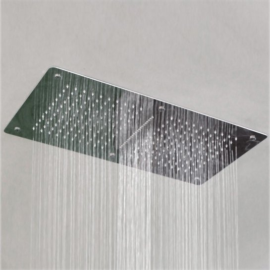 XXL-Regendusche Edelstahl-Deckenbrause DPG5019 superflach - 70 x 38 cm - Deckeneinbau